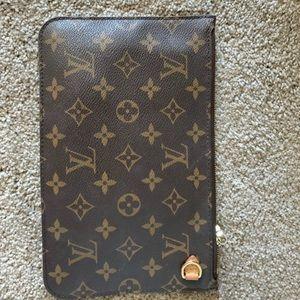 Authentic Louis Vuitton clutch wallet wristlet